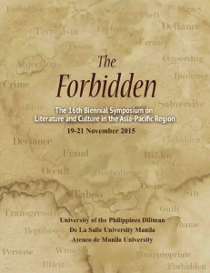 Forbidden 2015 Flyer