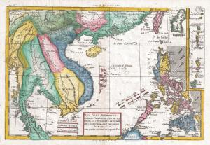 1780 map of Southeast Asia by Raynal and Bonne